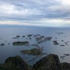 Henningsvær from high above
